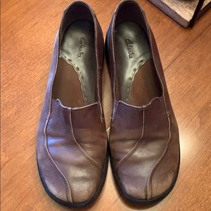 Women's Clark's 10 leather shoes used condition ❤️